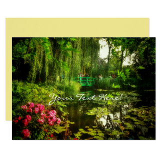 Claude Monet Giverny Pond with Lilies Invitation