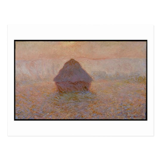 Claude Monet | Grainstack, Sun in the Mist Postcard