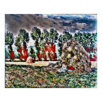 Claude Monet - Haystack at Giverny Poster
