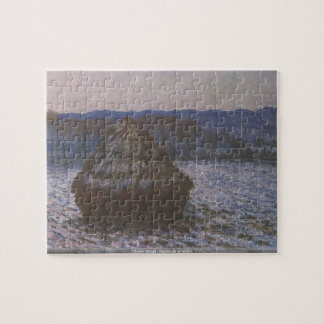 Claude Monet - Haystacks at sunset puzzle