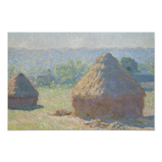Claude Monet - Haystacks, End of Summer Poster