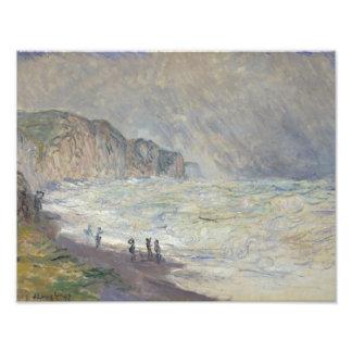 Claude Monet - Heavy Sea at Pourville Photo