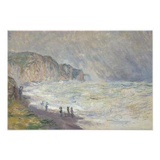 Claude Monet - Heavy Sea at Pourville Photo Print