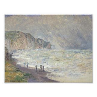 Claude Monet - Heavy Sea at Pourville Photograph