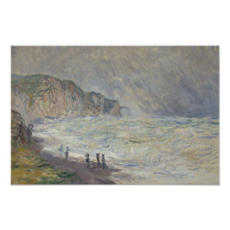 Claude Monet - Heavy Sea at Pourville Poster