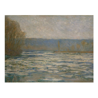 Claude Monet - Ice breaking up on the Seine Postcard