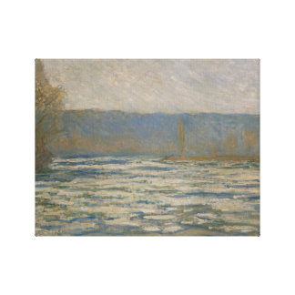 Claude Monet - Ice breaking up on the Seine Stretched Canvas Prints