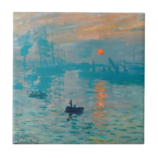 CLAUDE MONET - Impression, sunrise 1872 Small Square Tile