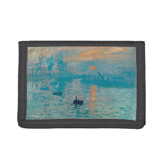CLAUDE MONET - Impression, sunrise 1872 Trifold Wallets