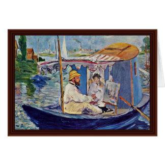 Claude Monet In His Studio (Argenteuil) Greeting Cards