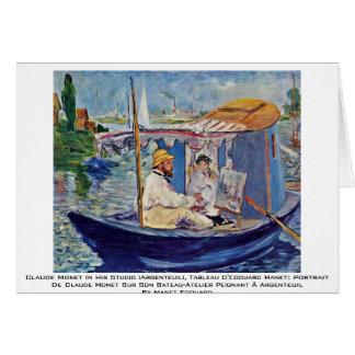 Claude Monet In His Studio (Argenteuil) Cards