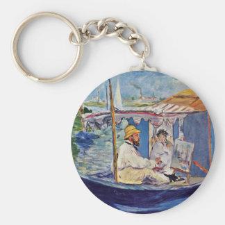 Claude Monet In His Studio (Argenteuil) Key Chain