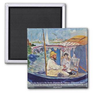 Claude Monet In His Studio (Argenteuil) Refrigerator Magnet
