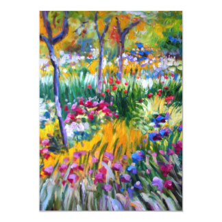Claude Monet: Iris Garden by Giverny Card