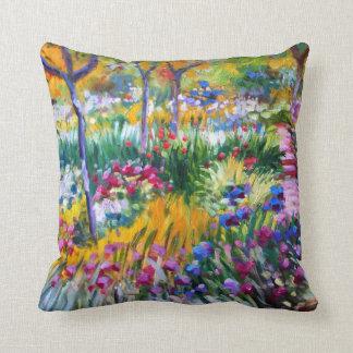 Claude Monet: Iris Garden by Giverny Cushions