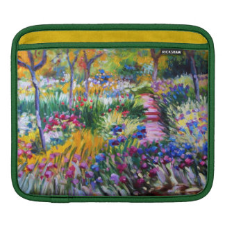 Claude Monet: Iris Garden by Giverny iPad Sleeve