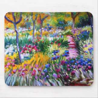 Claude Monet: Iris Garden by Giverny Mouse Pad