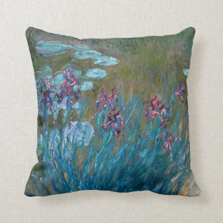 Claude Monet: Irises and Water Lilies Cushion