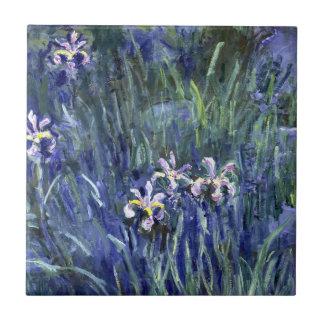 Claude Monet: Irises Ceramic Tile