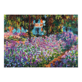 Claude Monet: Irises in Monet's Garden Card