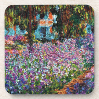 Claude Monet: Irises in Monet's Garden Coaster