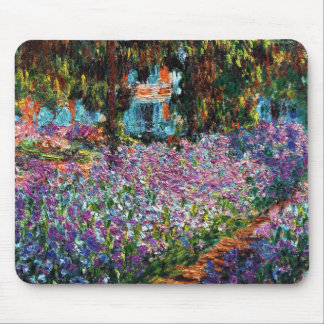 Claude Monet: Irises in Monet's Garden Mouse Pad