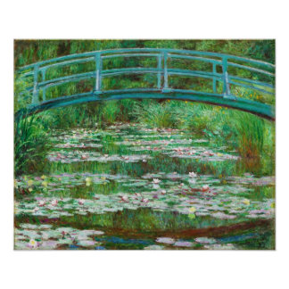 Claude Monet: Japanese Footbridge Poster