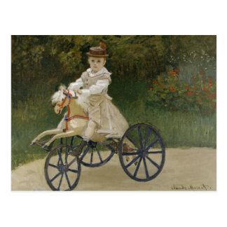 Claude Monet - Jean Monet on his Hobby Horse Postcard