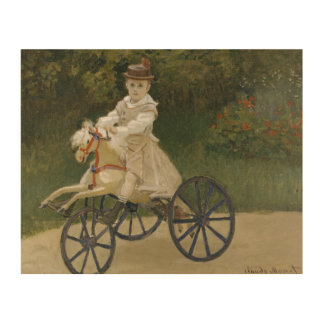 Claude Monet - Jean Monet on his Hobby Horse Wood Wall Decor
