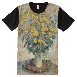 Claude Monet Jerusalem Artichoke Flowers 1880 All-Over Print T-Shirt