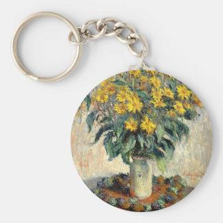Claude Monet Jerusalem Artichoke Flowers 1880 Key Ring