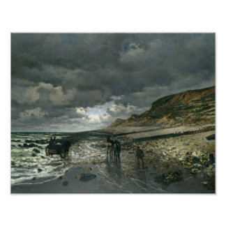 Claude Monet - La Pointe de la Hève at Low Tide Poster