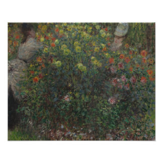 Claude Monet - Ladies in Flowers Poster