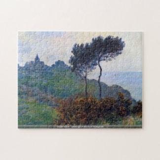 Claude Monet - Landscape of church at Varengeville Jigsaw Puzzle
