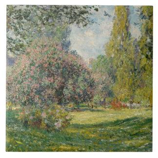 Claude Monet - Landscape: The Parc Monceau Ceramic Tile