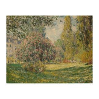 Claude Monet - Landscape: The Parc Monceau Wood Print