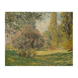 Claude Monet - Landscape: The Parc Monceau Wood Wall Art