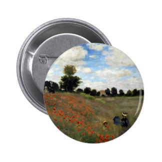 Claude Monet - Les Coquelicots 6 Cm Round Badge