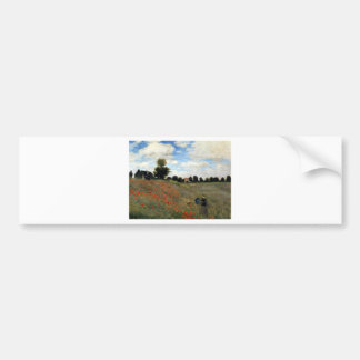 Claude Monet - Les Coquelicots Bumper Sticker