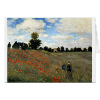 Claude Monet - Les Coquelicots Card
