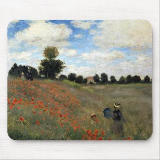 Claude Monet - Les Coquelicots Mouse Pad