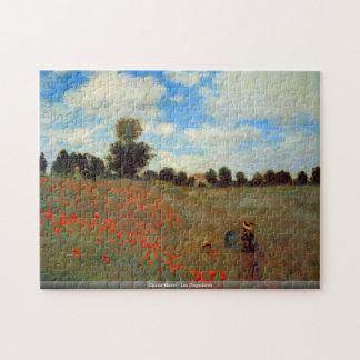 Claude Monet - Les Coquelicots puzzle