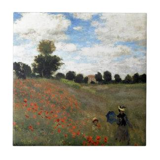 Claude Monet - Les Coquelicots Tile