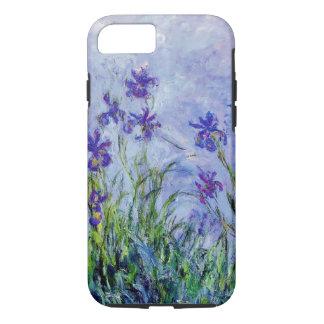 Claude Monet Lilac Irises Vintage Floral Blue iPhone 8/7 Case