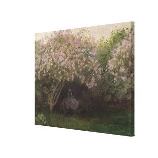 Claude Monet | Lilacs, Grey Weather, 1872 Canvas Print