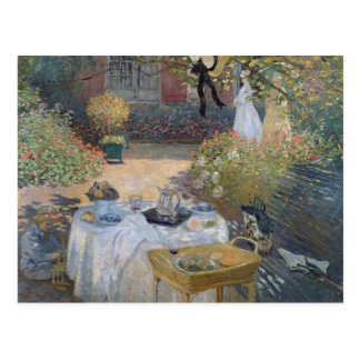 Claude Monet | Luncheon: Monet's garden Argenteuil Postcard