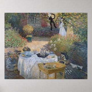 Claude Monet | Luncheon: Monet's garden Argenteuil Poster
