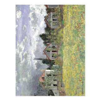 Claude Monet: Maisons d'Argenteuil, 1873 Oi on can Postcard