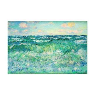 """Claude Monet Marine Pourville France  17X11.25"""" Canvas Print"""