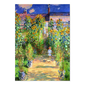 Claude Monet: Monet's Garden at Vétheuil Card